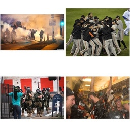 Ferguson Protest or SF Giants World Series Victory